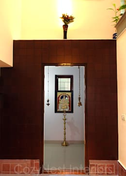 Traditional Pooja Room Design Modern Houses By Cozy Nest Interiors