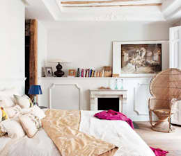 Camera da letto in stile in stile Eclettico di Simetrika