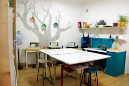eclectic Study/office by La Manual