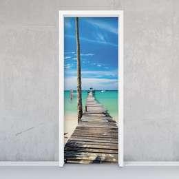 Türfolie - Blue Water: tropische Fenster & Tür von creatisto GmbH