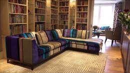 غرفة المعيشة تنفيذ White Linen Interiors Ltd