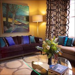 Salon de style de style Moderne par White Linen Interiors Ltd