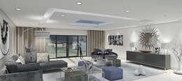 Outsourcing Interior Design: modern tarz Oturma Odası