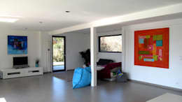 Vue du séjour: Maisons de style  par Tangentes Architectes