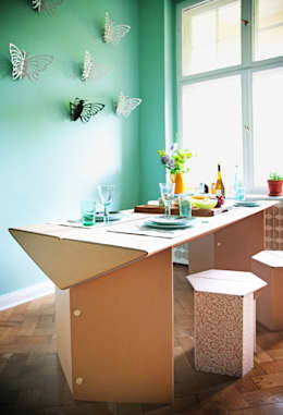 innovative wohnideen m bel aus pappe. Black Bedroom Furniture Sets. Home Design Ideas
