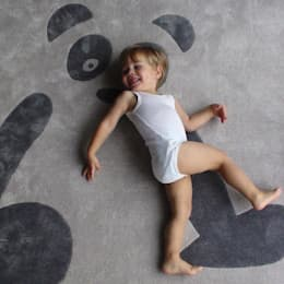 Tapis panda - Art For Kids: Chambre d'enfants de style  par Le Pestacle de Maëlou