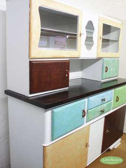 """Großer Vintage Küchenschrank """"Ella"""" ♥ Shabby Chic : landhausstil Küche von Landhausmixx"""