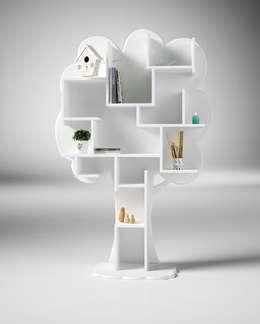 Bibliothèque arbre: Salon de style de style eclectique par Mathy by Bols