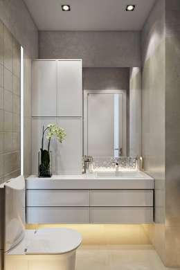 Baños de estilo minimalista por Дарья Баранович Дизайн Интерьера