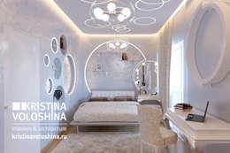 Современная квартира в Королеве: Спальни в . Автор – kristinavoloshina