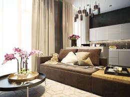 minimalistic Living room by Александра Петропавловская
