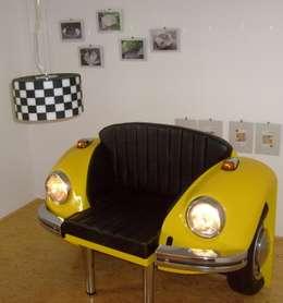 Salon de style de style eclectique par Automöbeldesign