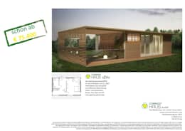 COMMOD-Haus dIVo: moderne Wohnzimmer von homify