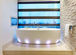 Penthouse Interior Design, River Thames, London: modern Bathroom by Residence Interior Design Ltd