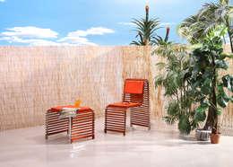 Chaise et banc Waves: Jardin de style de style Moderne par Nicolas Douard