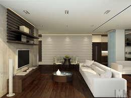 Квартира-трансформер: Гостиная в . Автор – ММ-design