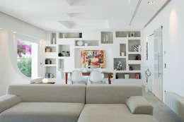 غرفة المعيشة تنفيذ DEFPOINT STUDIO   architettura  &  interni