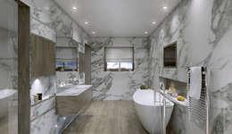 Outsourcing Interior Design: modern tarz Banyo