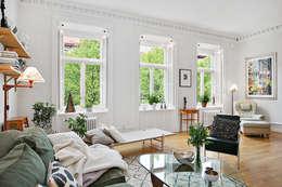 scandinavian Living room by Magdalena Kosidlo
