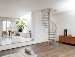 Spiral Staircases Make The Most Of A Small Space And Look Amazing. This  Wood And Metal Combo Looks Super Modern