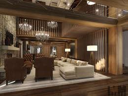 ММ-design: kolonyal tarz tarz Oturma Odası