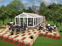 Jardines de invierno de estilo moderno por CO Mimarlık Dekorasyon İnşaat ve Dış Tic. Ltd. Şti.