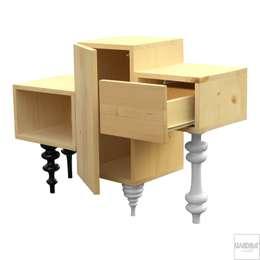 Projekty,  Salon zaprojektowane przez Kvadrat Meble