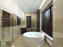Коттедж в пос. Никольские озера: Ванные комнаты в . Автор – ММ-design