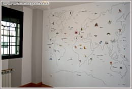 modern Nursery/kid's room by CAMPU.NET