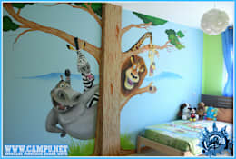 modern Nursery/kid's room by CAMPU.NET