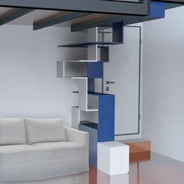 Vestíbulos, pasillos y escaleras de estilo  por BRENSO Architecture & Design