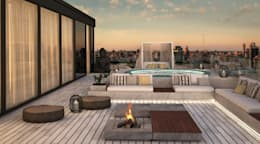 """LUXURY URBAN PENTHOUSE""- A very special Sunset:   por WE-ARE LIFESTYLE, ARQUITECTURA DE INTERIORES & DECORAÇÃO"