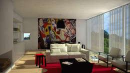 Portuguese House - Living Room: Habitações  por Santiago | Interior Design Studio