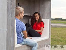Lounge Koje: rustikaler Garten von Wittekind Möbel UG (haftungsbeschränkt)