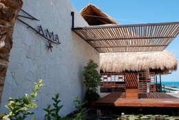 Zama Club de Playa: Restaurantes de estilo  por vgzarquitectura y diseño