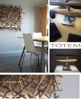 Lampe TOTEM: Bureau de style de style Moderne par Pür cachet