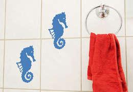 Fliesendeko Seepferdchen : ausgefallene Badezimmer von K&L Wall Art