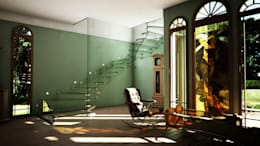eclectic Corridor, hallway & stairs by Siller Treppen/Stairs/Scale