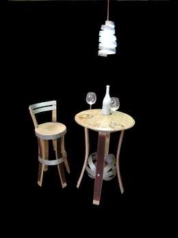 mobiiier cave à vins, mobilier bars à vins : Cave à vin de style de style eclectique par  Douelledereve / Eco design construction