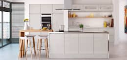 Cocina de estilo  por The Leicester Kitchen Co