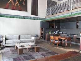 LOFT POLANCO: Casas de estilo  por anaranja sa de cv