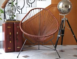 Leather Acapulco chair: modern Living room by Ocho Workshop
