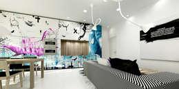 XX HOUSE: Soggiorno in stile in stile Minimalista di MDMA