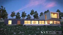 Projekty, nowoczesne Domy zaprojektowane przez Arquitectos Madrid 2.0