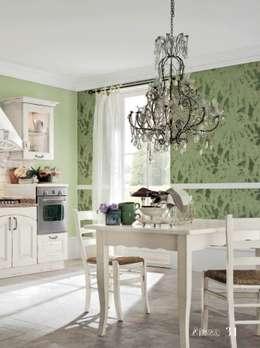 CUCINA ATENA : Cucina in stile in stile Rustico di ROMANO MOBILI dal 1960