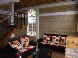 Projekty,  Salon zaprojektowane przez JRK Diseño - Studio Arquitectura
