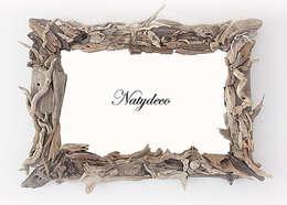 miroir en bois flotté: Maison de style  par Natydeco