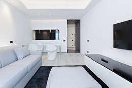 Arch. Andrea Pella: modern tarz Oturma Odası