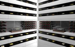 Projet 3D - Cave à vin en Corian Blanc Iceberg: Cave à vin de style de style Moderne par Degré 12