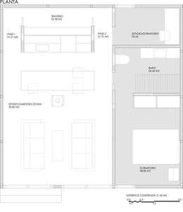 Casas de estilo moderno por DMP arquitectura